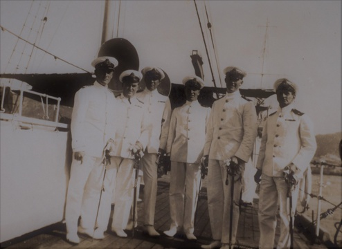 Officers of HMS Verbena