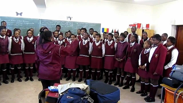 Percy Mdala High School choir