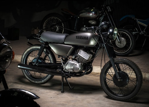 The Motorcycle Room Knysna - custom Yamaha RS185