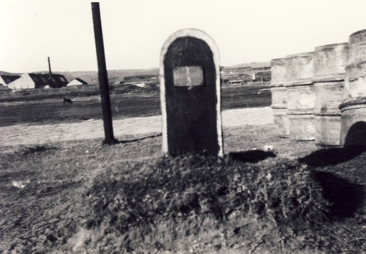 Grave of the ships mascot, Bondi, HMS Verbena, Thesen Island, Knysna Harbour