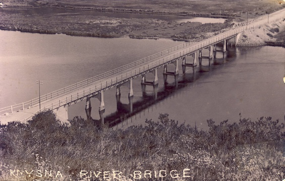 Knysna River Concrete Bridge (second bridge), ca 1915