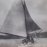 Yacht Swan during a Knysna Yacht Club outing, 1910