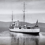 HMS Wallflower on the Knysna Estuary, ca 1925