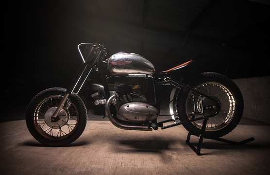 The Motorcycle Room Knysna custom Jawa Boardtracker replica