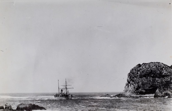 ss Pongola in The Heads, 1895